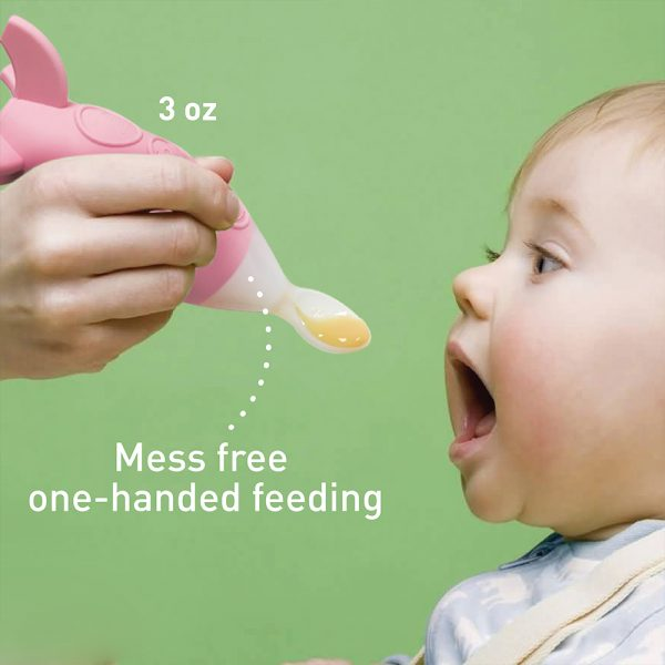 Feeding spoon dispenser