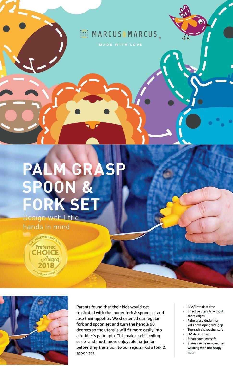 palm graps fork spoon set