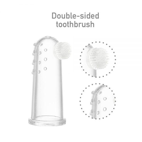 Finger Toothbrush & Gum Massager Set