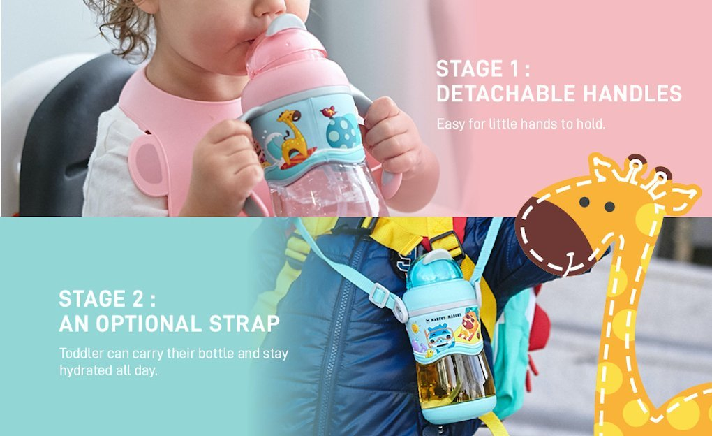 2 Stage Tritan Straw Bottle