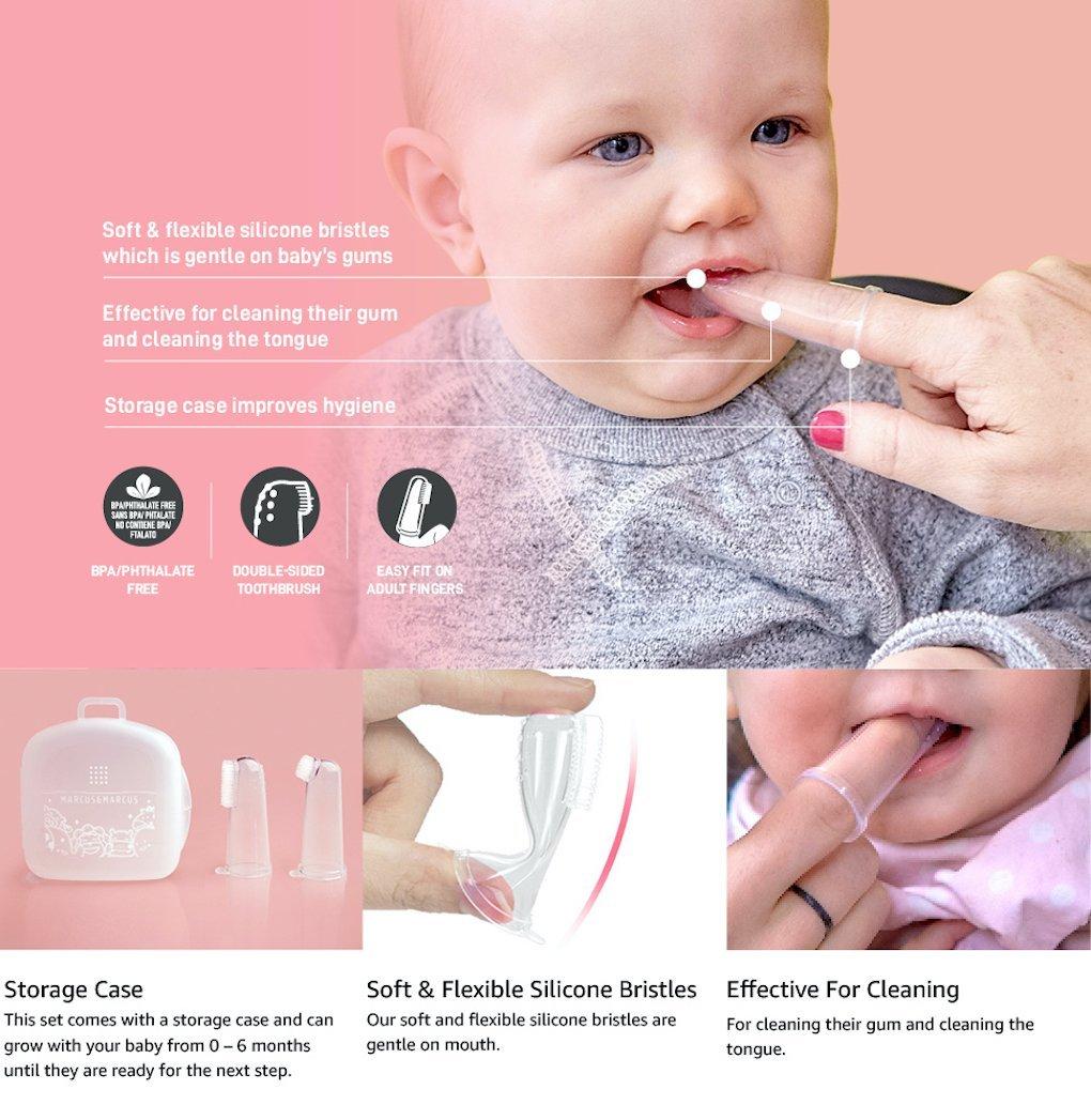 Finger Toothbrush and Gum Massager Set