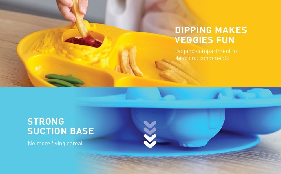 Yummy Dip Suction Plate