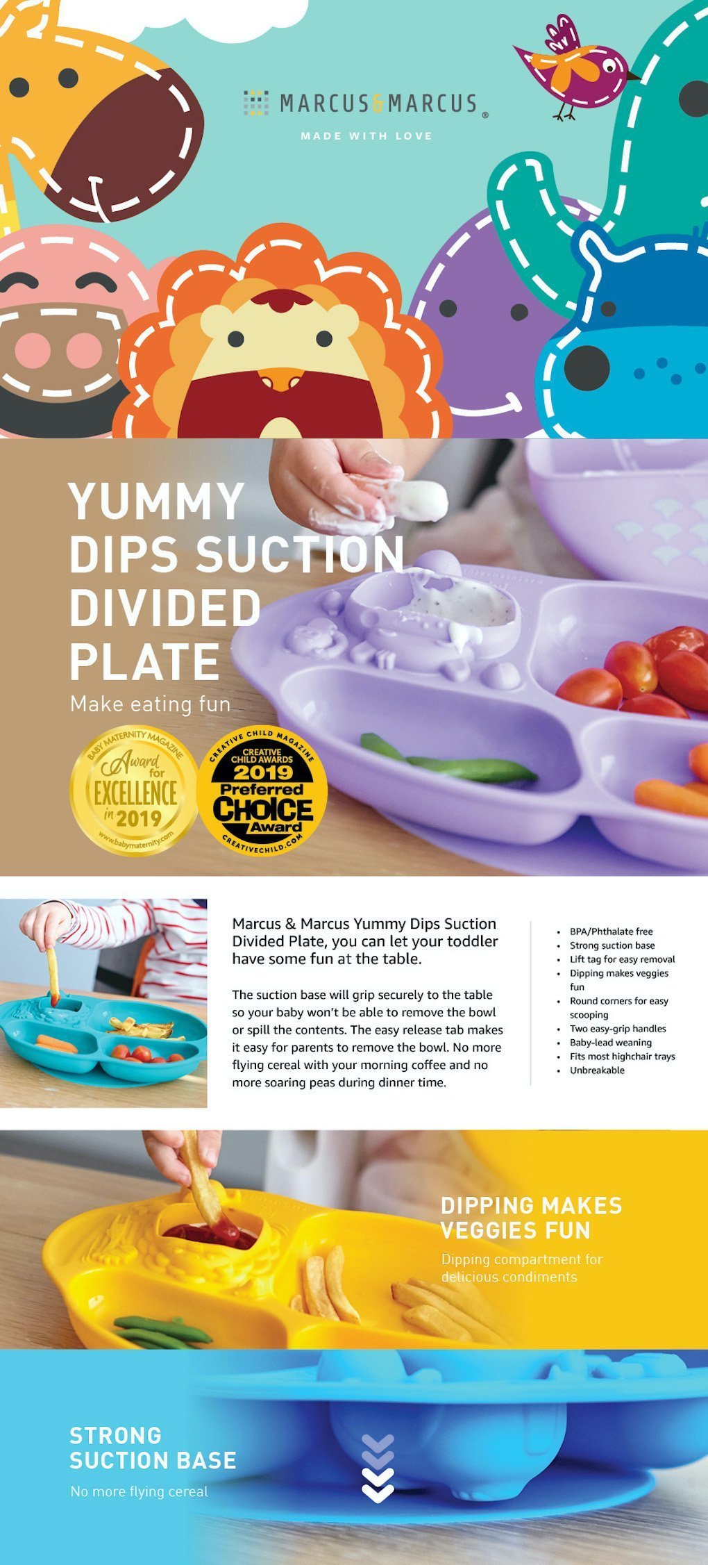 yummy dip plate