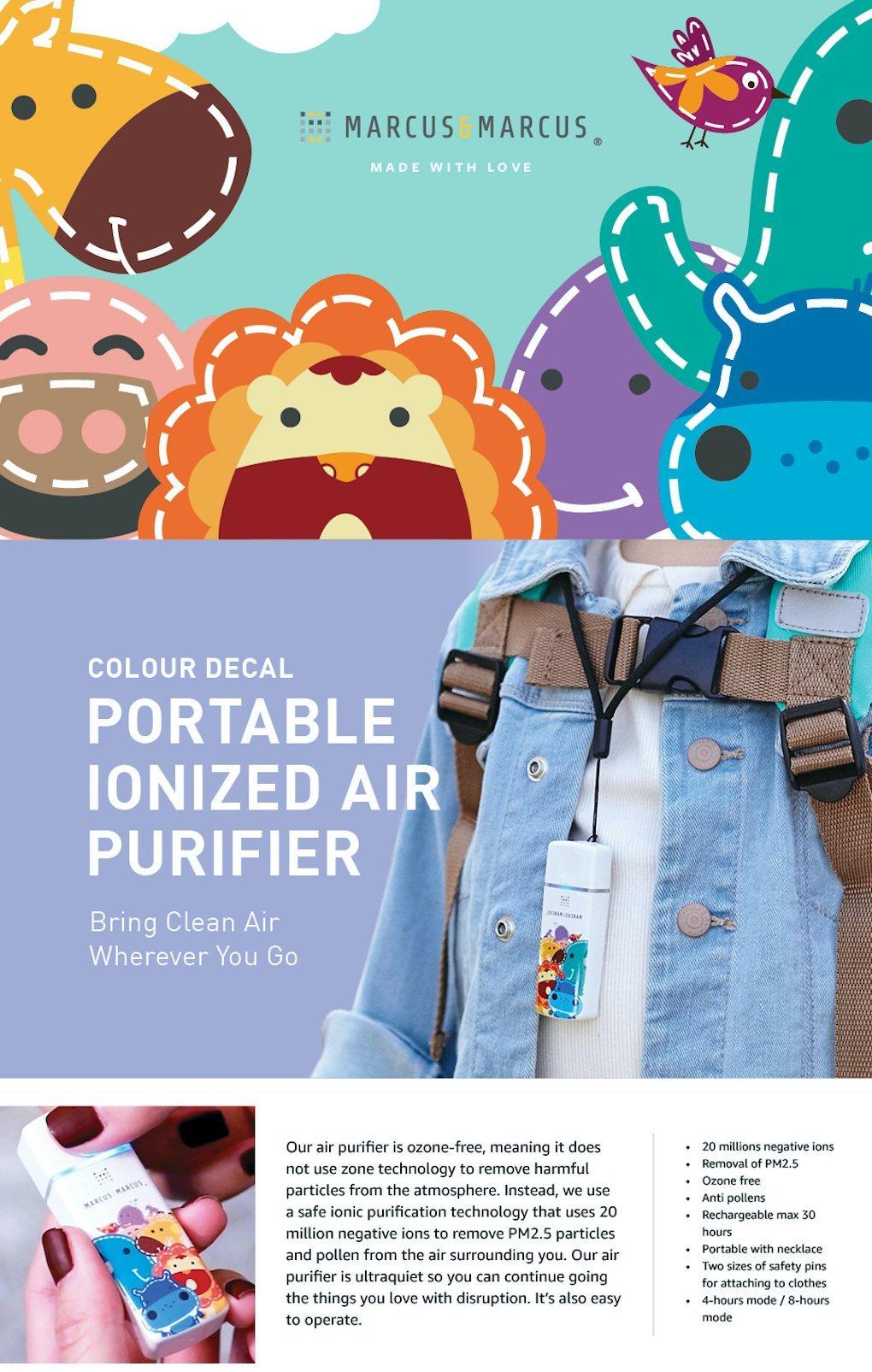 portable ionized air purifier-colour