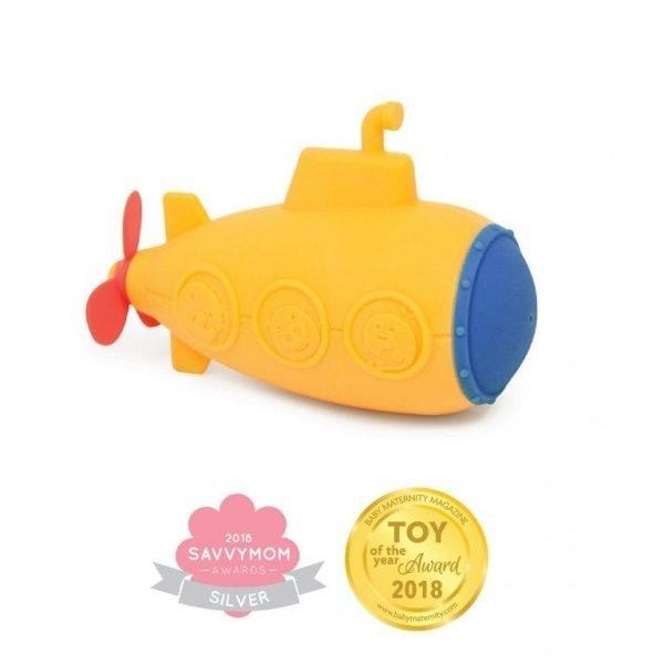 Silicone Bath Toys - Submarine Squirt Savvy Mom Award Baby Maternity Magazine Award