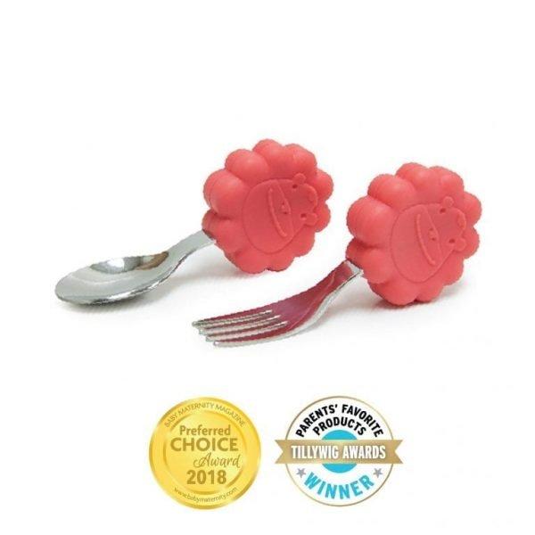 Palm Grasp Spoon & Fork Set Baby Maternity Magazine Award