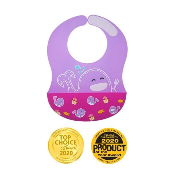 Wide Coverage Silicone Bib Baby Maternity Magazine Award Creative Child Magazine Award