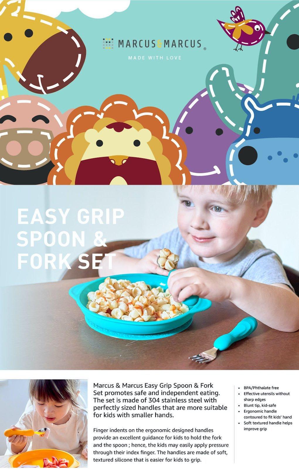 Easy Grip Spoon & Fork Set